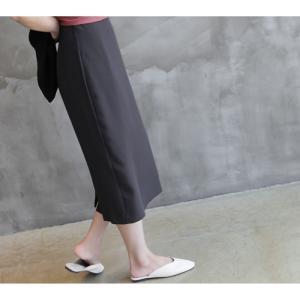 スカート レディース 40代 50代 60代 ファッション 女性 上品  グレー タイトスカート 無地 ロングスカート ロング丈 春夏 ミセス|alice-style|12