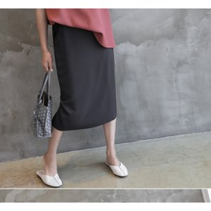 スカート レディース 40代 50代 60代 ファッション 女性 上品  グレー タイトスカート 無地 ロングスカート ロング丈 春夏 ミセス|alice-style|06