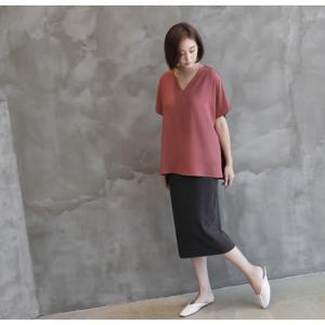 スカート レディース 40代 50代 60代 ファッション 女性 上品  グレー タイトスカート 無地 ロングスカート ロング丈 春夏 ミセス|alice-style|09
