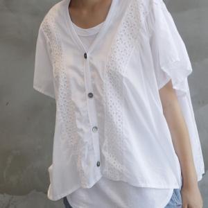 カーディガン レディース 40代 50代 60代 ファッション 女性 上品  黒  白 半袖 ハーフ丈 レース 春夏 ミセス|alice-style