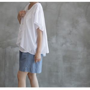 カーディガン レディース 40代 50代 60代 ファッション 女性 上品  黒  白 半袖 ハーフ丈 レース 春夏 ミセス|alice-style|09