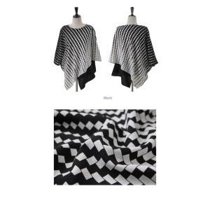ブラウス レディース 40代 50代 60代 ファッション おしゃれ 女性 上品  黒 7分袖 アンバランス 幾何学模様 春夏 ミセス|alice-style|02