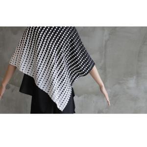 ブラウス レディース 40代 50代 60代 ファッション おしゃれ 女性 上品  黒 7分袖 アンバランス 幾何学模様 春夏 ミセス|alice-style|08