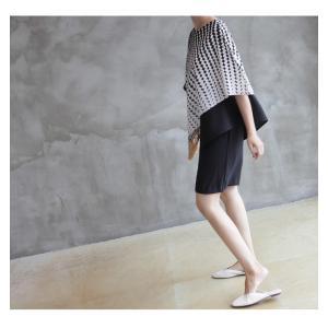 ブラウス レディース 40代 50代 60代 ファッション おしゃれ 女性 上品  黒 7分袖 アンバランス 幾何学模様 春夏 ミセス|alice-style|09