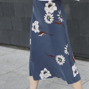 スカート レディース 大人 40代 50代 60代 ファッション おしゃれ 女性 上品 赤 ウエストゴム 花柄 ロング丈 膝丈 春夏 ミセス|alice-style