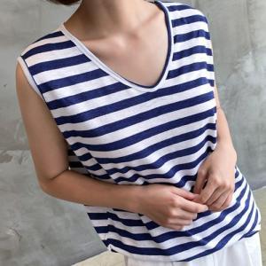 Tシャツ レディース 大人 40代 50代 60代 ファッション おしゃれ 女性 上品 黒 赤 トップス ボーダー ノースリーブ 春夏 ミセス|alice-style