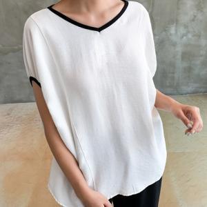 Tシャツ レディース 大人 40代 50代 60代 ファッション おしゃれ 女性 上品 黒 ベージュ トップス 半袖 無地 春夏 ミセス|alice-style