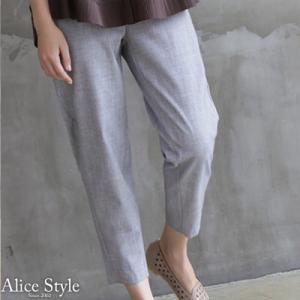 パンツ レディース 大人 40代 50代 60代 ファッション おしゃれ 女性 上品 黒 グレー クロップド シンプル 春夏 ミセス alice-style