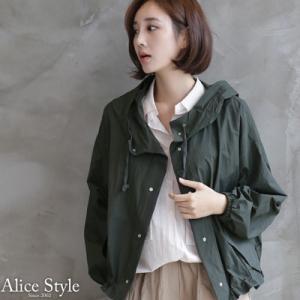 ジャケット レディース 大人 40代 50代 60代 ファッション おしゃれ 女性 上品 カーキ 緑 カーキ 緑 ハーフ丈 フード 春夏 ミセス|alice-style