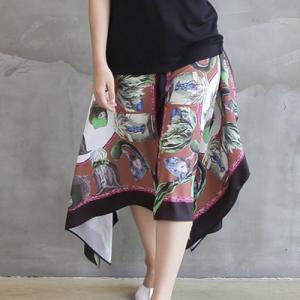 スカート レディース 大人 40代 50代 60代 ファッション おしゃれ 女性 上品 黒 ロング丈 ボタニカル柄 春夏 ミセス|alice-style