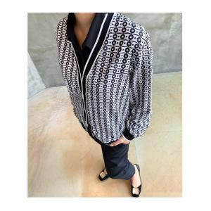 カーディガン レディース 大人 40代 50代 60代 ファッション おしゃれ 女性 上品 白 柄 ハーフ丈 きれいめ 秋 ミセス alice-style 11