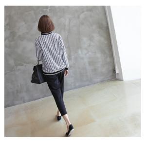 カーディガン レディース 大人 40代 50代 60代 ファッション おしゃれ 女性 上品 白 柄 ハーフ丈 きれいめ 秋 ミセス alice-style 12