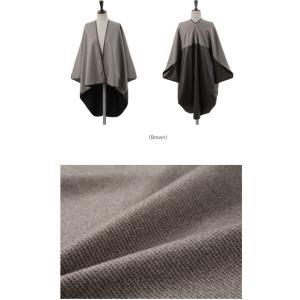 ジャケット レディース 40代 50代 60代 ファッション おしゃれ 女性 上品  茶色 異素材 切り替え ドルマン 体形カバー ウール混 秋 ミセス alice-style 02