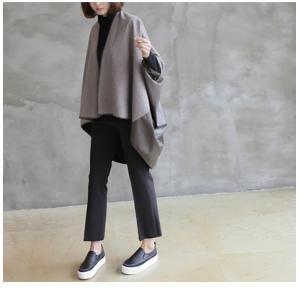 ジャケット レディース 40代 50代 60代 ファッション おしゃれ 女性 上品  茶色 異素材 切り替え ドルマン 体形カバー ウール混 秋 ミセス alice-style 11