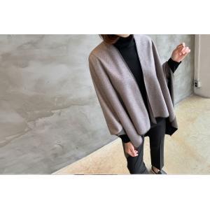 ジャケット レディース 40代 50代 60代 ファッション おしゃれ 女性 上品  茶色 異素材 切り替え ドルマン 体形カバー ウール混 秋 ミセス alice-style 18
