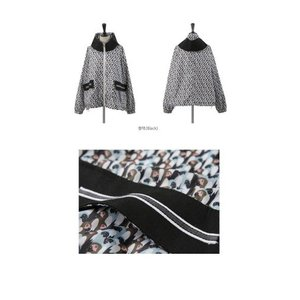 ショートジャンパー アウター レディース 40代 50代 60代 ファッション おしゃれ 女性 上品 黒 ペンギンプリント 柄 冬 ミセス|alice-style|02