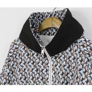 ショートジャンパー アウター レディース 40代 50代 60代 ファッション おしゃれ 女性 上品 黒 ペンギンプリント 柄 冬 ミセス|alice-style|20