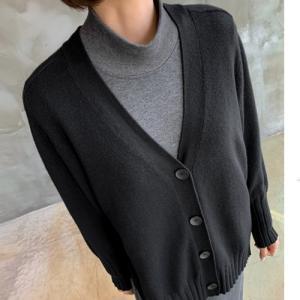 カーディガン レディース 40代 50代 60代 ファッション おしゃれ 女性 上品  黒  グレー ハーフ丈 ビスコース 秋 ミセス|alice-style