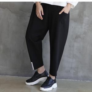パンツ レディース 40代 50代 60代 ファッション おしゃれ 女性 上品  黒 クロップドパンツ 秋 ミセス|alice-style
