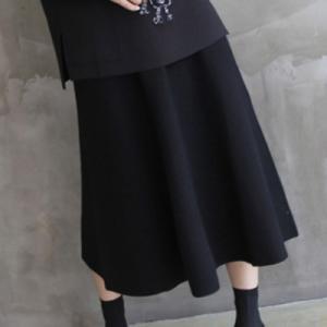 スカート レディース 40代 50代 60代 ファッション おしゃれ 女性 上品  黒  ベージュ ロング丈 ウール50% 秋 ミセス|alice-style