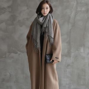 コート レディース 40代 50代 60代 ファッション おしゃれ 女性 上品  黒  ベージュ ロング丈 ウール100% ゆったり ビッグシルエット 体形カバー 秋 ミセス|alice-style
