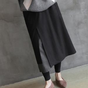 スカート レディース 40代 50代 60代 ファッション おしゃれ 女性 上品  黒 ウール混 ロング丈 秋 ミセス|alice-style