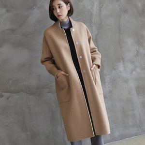 コート レディース 40代 50代 60代 ファッション おしゃれ 女性 上品  黒  ベージュ  カーキ 緑  カーキ 緑 ロング丈|alice-style