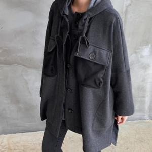 ジャケット レディース 40代 50代 60代 ファッション おしゃれ 女性 上品  黒 ハーフ丈 ドルマン ゆったり 体形カバー 秋 ミセス|alice-style