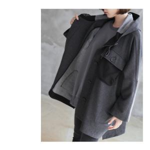 ジャケット レディース 40代 50代 60代 ファッション おしゃれ 女性 上品  黒 ハーフ丈 ドルマン ゆったり 体形カバー 秋 ミセス alice-style 13