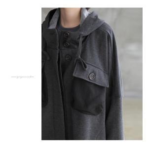 ジャケット レディース 40代 50代 60代 ファッション おしゃれ 女性 上品  黒 ハーフ丈 ドルマン ゆったり 体形カバー 秋 ミセス alice-style 21