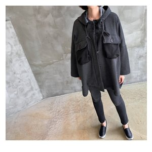 ジャケット レディース 40代 50代 60代 ファッション おしゃれ 女性 上品  黒 ハーフ丈 ドルマン ゆったり 体形カバー 秋 ミセス alice-style 05