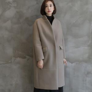 コート レディース 40代 50代 60代 ファッション おしゃれ 女性 上品  黒  ベージュ ロング丈 ゆったり 体形カバー 秋 ミセス|alice-style
