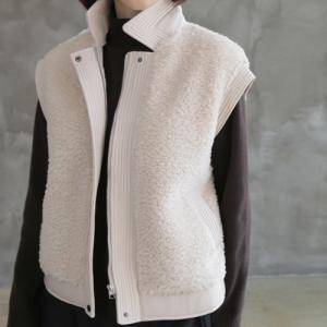 ベスト レディース 40代 50代 60代 ファッション おしゃれ 女性 上品  黒 ハーフ丈 起毛 秋 ミセス|alice-style