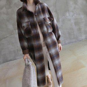 コート レディース 40代 50代 60代 ファッション おしゃれ 女性 上品  茶色  グレー ロング丈 ロングコート チェック きれいめ 秋 ミセス|alice-style