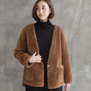 ジャケット レディース 40代 50代 60代 ファッション おしゃれ 女性 上品  茶色  カーキ 緑  カーキ 緑 ハーフ丈 ウール100% 起毛 あったか 秋 ミセス|alice-style
