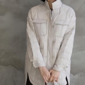 ジャケット レディース 40代 50代 60代 ファッション おしゃれ 女性 上品  黒  ベージュ ダックダウン ダウンジャケット キルティング 秋 ミセス|alice-style