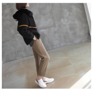 ジャケット レディース 40代 50代 60代 ファッション おしゃれ 女性 上品  黒  ベージュ ハーフ丈 ニット フェイクファー ウール混 カシミア 秋 ミセス alice-style 17