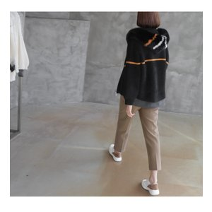ジャケット レディース 40代 50代 60代 ファッション おしゃれ 女性 上品  黒  ベージュ ハーフ丈 ニット フェイクファー ウール混 カシミア 秋 ミセス alice-style 04