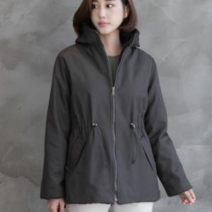 裏地ボア レディース 40代 50代 60代 ファッション おしゃれ 女性 上品 グレー 半フードジャケット 無地 冬 ミセス|alice-style
