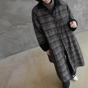 ジャケット レディース 40代 50代 60代 ファッション おしゃれ 女性 上品  赤  グレー 裏起毛 ロング丈 チェック ロングジャケット 秋 ミセス|alice-style