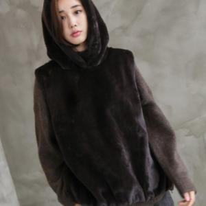 ベスト レディース 40代 50代 60代 ファッション おしゃれ 女性 上品  茶色  ベージュ  グレー ハーフ丈 起毛 フード 秋 ミセス|alice-style