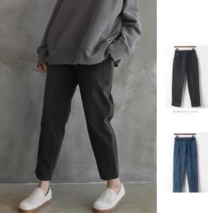 デニム レディース 40代 50代 60代 ファッション おしゃれ 女性 上品  黒 ウォッシング バンディングデニムパンツ 冬 ミセス|alice-style