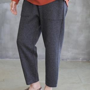 パンツ レディース 40代 50代 60代 ファッション おしゃれ 女性 上品  黒 ウール混 無地 秋 ミセス|alice-style