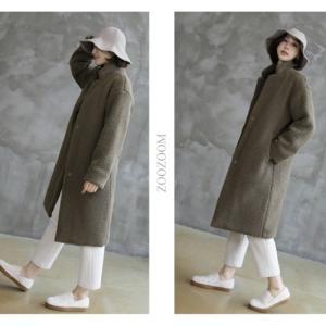コート レディース 40代 50代 60代 ファッション おしゃれ 女性 上品 カーキ 緑 ハイネックフリース あったかロングコート 無地 ミセス|alice-style