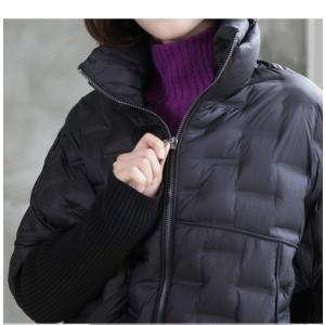 ジャケット レディース 40代 50代 60代 ファッション おしゃれ 女性 上品  黒 ハーフ丈 ジップアップ 秋 ミセス|alice-style|13