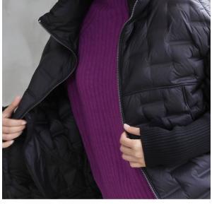 ジャケット レディース 40代 50代 60代 ファッション おしゃれ 女性 上品  黒 ハーフ丈 ジップアップ 秋 ミセス|alice-style|14
