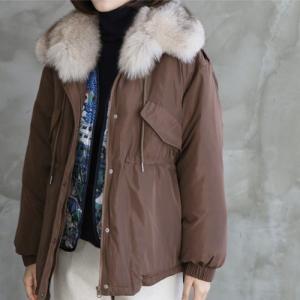 ジャケット レディース 40代 50代 60代 ファッション おしゃれ 女性 上品  黒  茶色 ハーフ丈 フォックスファー ジップアップ 秋 ミセス|alice-style