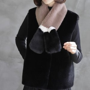 ベスト レディース 40代 50代 60代 ファッション おしゃれ 女性 上品  黒  ベージュ  グレー 起毛 ハーフ丈 秋 ミセス|alice-style