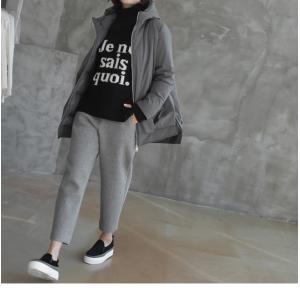 ジャケット レディース 40代 50代 60代 ファッション おしゃれ 女性 上品  黒  グレー ハーフ丈 中綿 ジップアップ ゆったり 秋 ミセス|alice-style|11