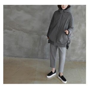 ジャケット レディース 40代 50代 60代 ファッション おしゃれ 女性 上品  黒  グレー ハーフ丈 中綿 ジップアップ ゆったり 秋 ミセス|alice-style|12